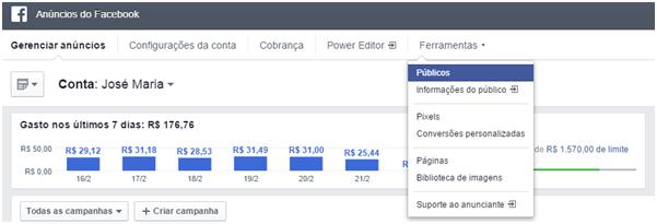 Gerenciador de Negócios - Como fazer remarketing no facebook