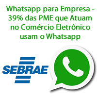 Whatsapp para Empresa - 39% das PME que Atuam no Comércio Eletrônico usam o Whatsapp