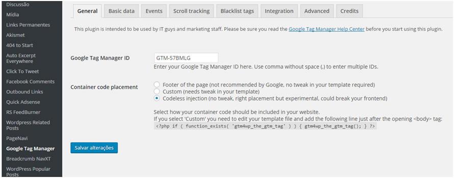 Gerenciador de tags do Google DuracellTomi para WordPress - Como adicionar o Pixel do facebook pelo Google Tag Manager