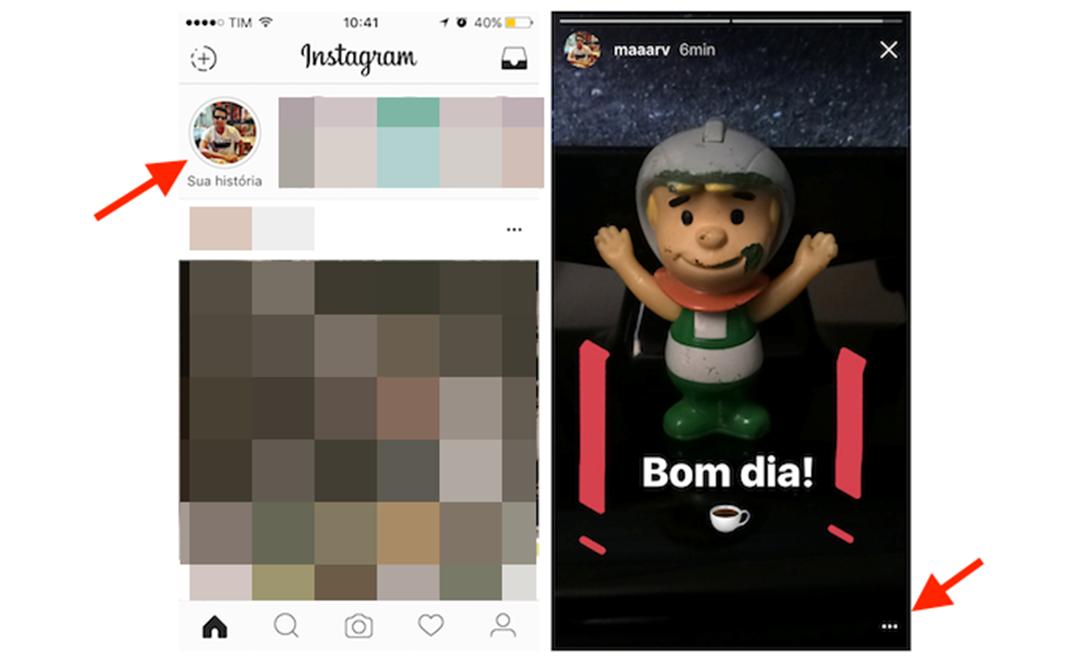 Acessando suas histórias no instagram Stories