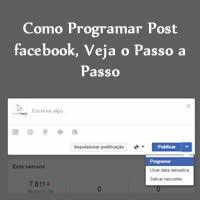 Como Programar Post facebook, Veja o Passo a Passo