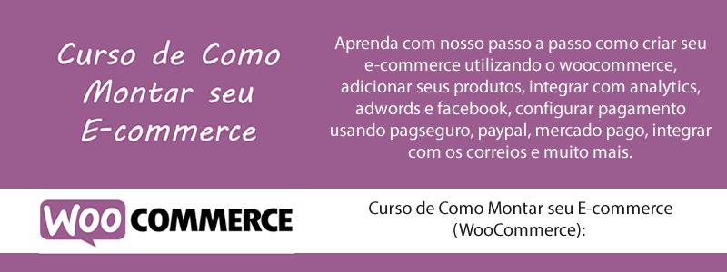 Curso de Como Montar seu E-commerce (WooCommerce)