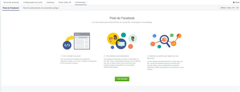 Criar um pixel - facebook